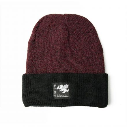 Senlak Heritage Beanie - Antique Burgundy and Black